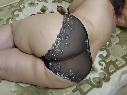 My boyfriend loves to admire my big fat booty in panties