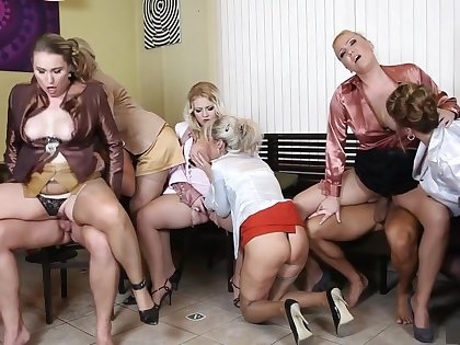 Crazy pornstars Amadea Emily, Gabrielle Gucci and Samantha Jolie in amazing mature, lingerie sex scene