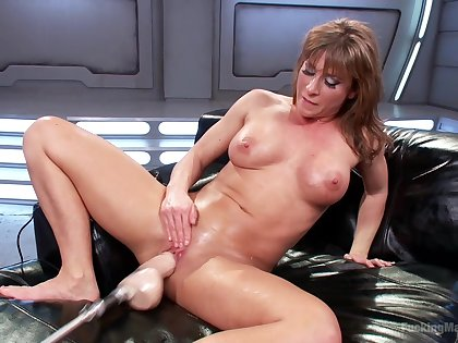 Busty Ariel X pleasures themselves with a vibrator and a fuck gadget