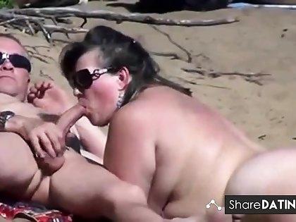 Unclothed Seashore - Public Blowjobs