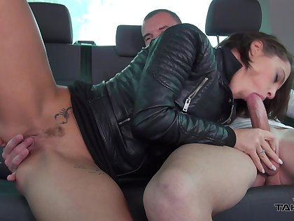 Picked used dame helter-skelter nice rounded ass Nikita gives man a ride in the car