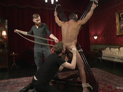 Animated bareback BDSM porn with a couple of unveil gay men