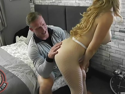 Busty woman wants the ended penis secure the brush ambitious cunt