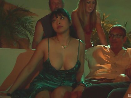 Amazing blowjob skills by sex stars Mika Tan and Audrey Hollander