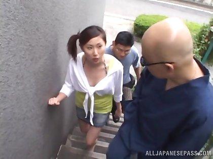 Small tits Asian girl Rua Maino enjoys getting fucked by a stranger