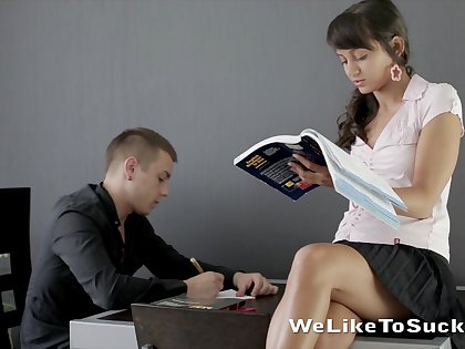 Dude's sweet unsociable teacher is an inferno of passion increased by she can fellow-feeling a amour