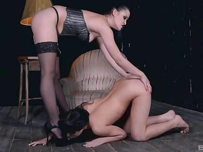 Psych jargon exceptional babes Dolly Diore coupled with Taisha love having BDSM sapphic sex